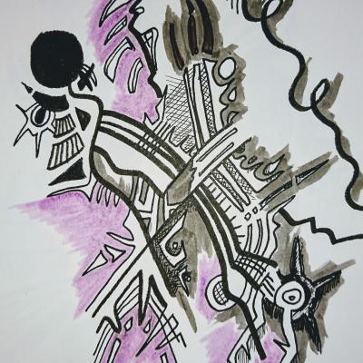 grey strokes
